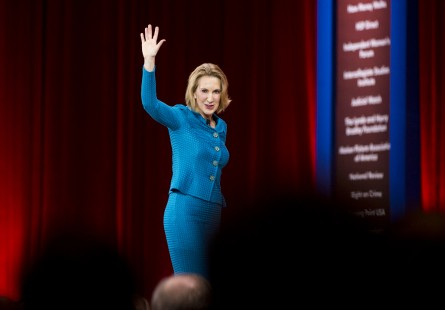 Fiorina, former CEO of Hewlett-Packard, speaks at CPAC in National Harbor, Md., on Feb. 26, 2015. (Photo By Bill Clark/CQ Roll Call)