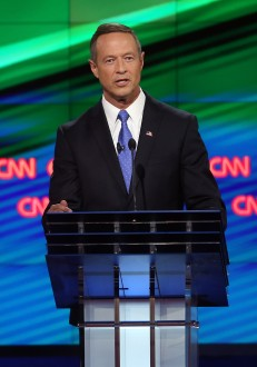 LAS VEGAS, NV - OCTOBER 13:  Democratic presidential candidate Martin O'Malley takes part in a presidential debate sponsored by CNN and Facebook at Wynn Las Vegas on October 13, 2015 in Las Vegas, Nevada. Five Democratic presidential candidates are participating in the party's first presidential debate.  (Photo by Joe Raedle/Getty Images)