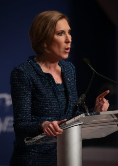 WASHINGTON, DC - DECEMBER 03:  Republican presidential candidate Carly Fiorina addresses the Republican Jewish Coalition at Ronald Reagan Building and International Trade Center December 3, 2015 in Washington, DC. Candidates spoke and took questions from Jewish leaders and activists as they continued to seek the Republican presidential nomination.  (Photo by Alex Wong/Getty Images)