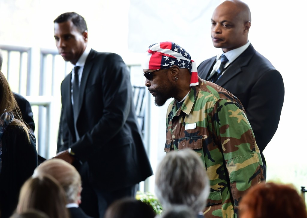 Actor Mr. T arrives for the funeral service of US former First Lady Nancy Reagan on March 11, 2016, at the Ronald Reagan Presidential Library in Simi Valley, California. AFP PHOTO/FREDERIC J. BROWN / AFP / FREDERIC J. BROWN (Photo credit should read FREDERIC J. BROWN/AFP/Getty Images)