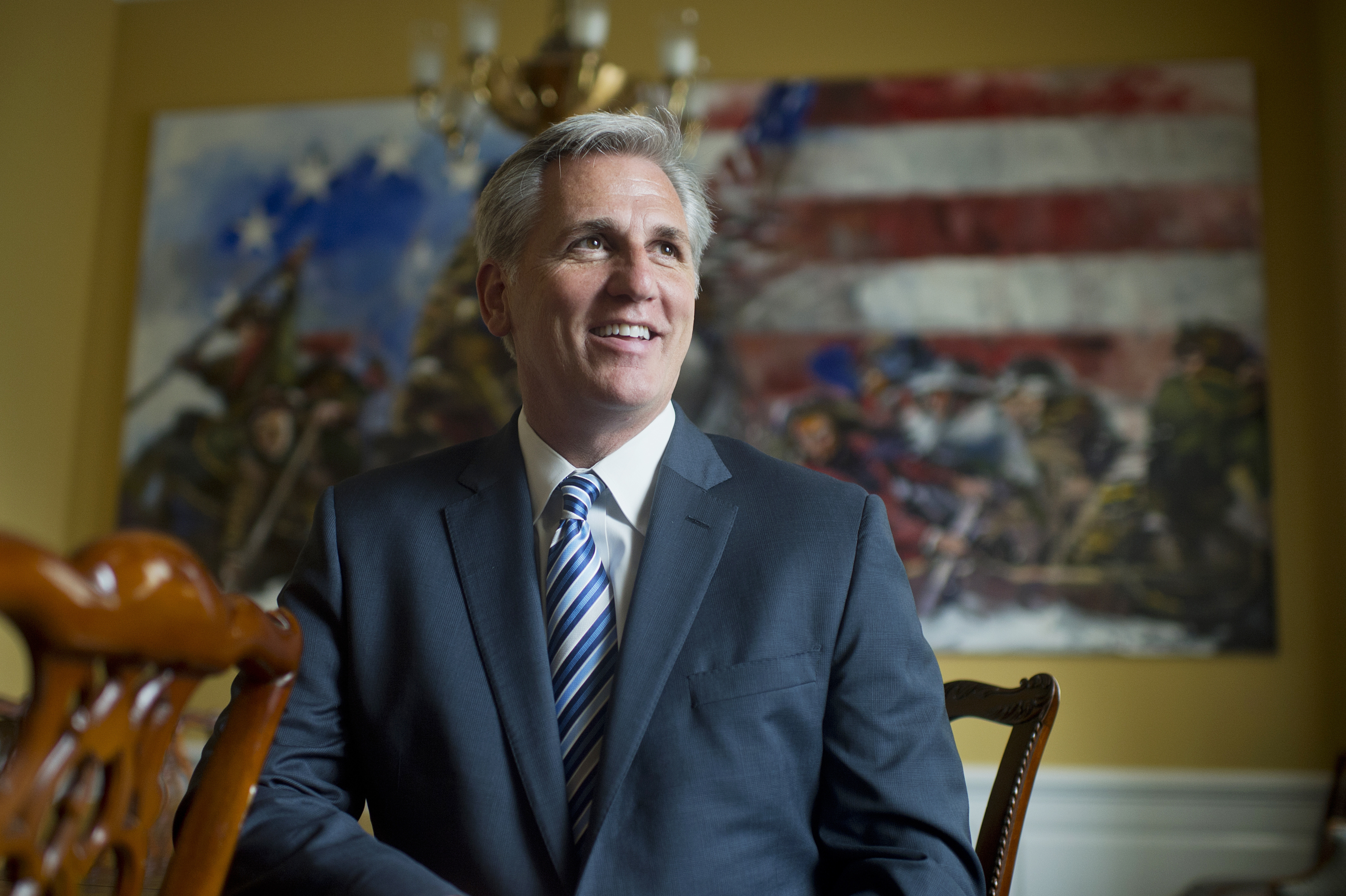 UNITED STATES - JUNE 04: House Majority Leader Kevin McCarthy, D-Calif., is photographed in his Capitol office, June 4, 2015. (Photo By Tom Williams/CQ Roll Call)