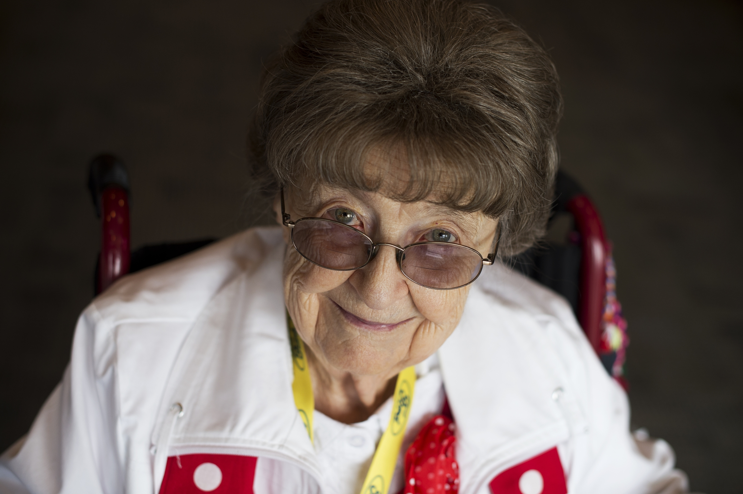 UNITED STATES - MARCH 22: Frances Reeck, a World War II era Rosie the Riveter, is photographed during a lunch for a group of about 30 Rosies at the Library of Congress, March 22, 2016. They were part of an Honor Flight from Detroit who were on a tour of D.C. that included stops on Capitol Hill, the World War II Memorial, and Arlington National Cemetery. (Photo By Tom Williams/CQ Roll Call)