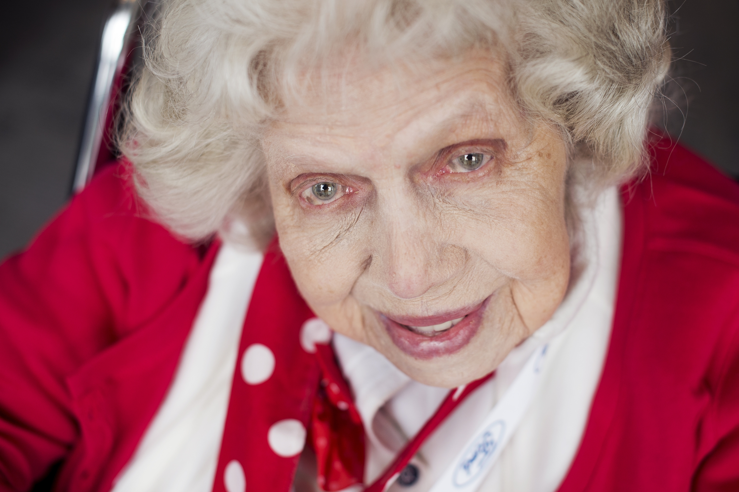 UNITED STATES - MARCH 22: Phyllis Lenhard, a World War II era Rosie the Riveter, is photographed during a lunch for a group of about 30 Rosies at the Library of Congress, March 22, 2016. They were part of an Honor Flight from Detroit who were on a tour of D.C. that included stops on Capitol Hill, the World War II Memorial, and Arlington National Cemetery. (Photo By Tom Williams/CQ Roll Call)
