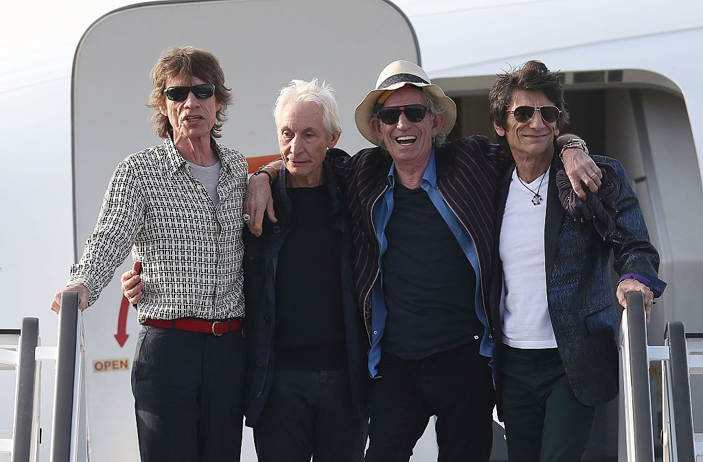The Rolling Stones land in Havana. (Photo by Joe Raedle/Getty Images)