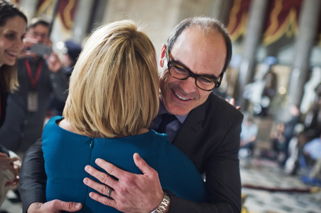 """Actor Michael Kelly, who plays Doug Stamper on the Netflix series """"House of Cards,"""" is a notorious party attendee. (Photo By Tom Williams/CQ Roll Call File Photo)"""