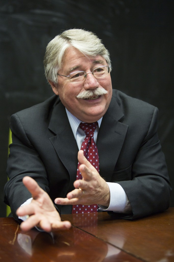 UNITED STATES - APRIL 5 - Indiana Attorney General Greg Zoeller, speaks during an interview, in Indianapolis, Ind., on Tuesday, April 5, 2016. Zoeller is running for Congress in the 9th congressional district as a Republican. (Photo By Al Drago/CQ Roll Call)