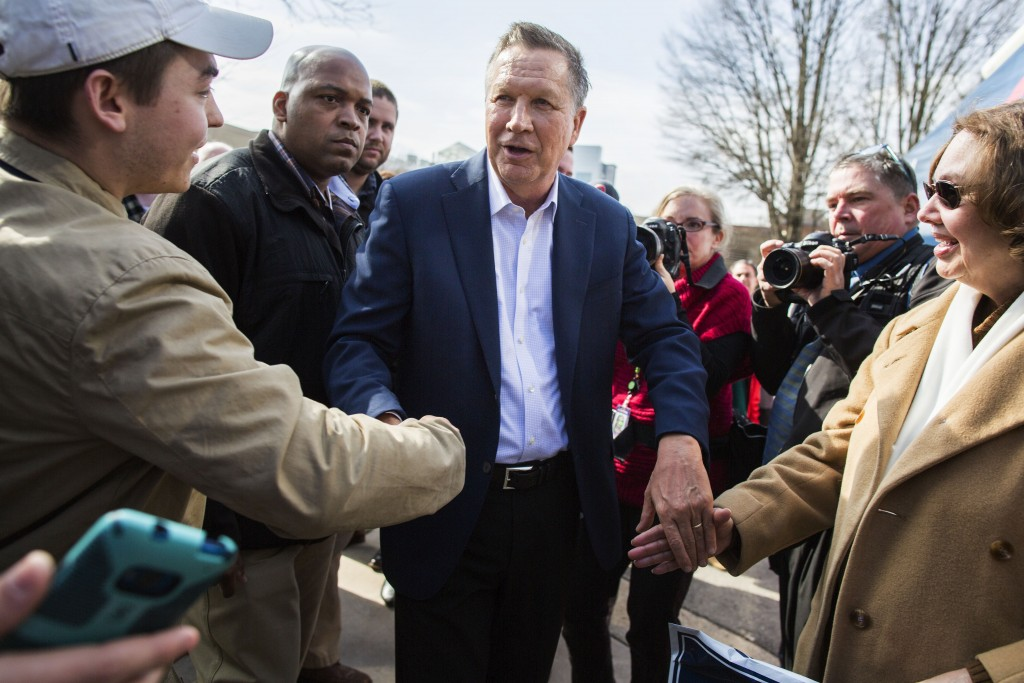 A choice of Ohio Gov. John Kasich could serve as an olive branch to moderate establishment Republicans. (Photo By Al Drago/CQ Roll Call)
