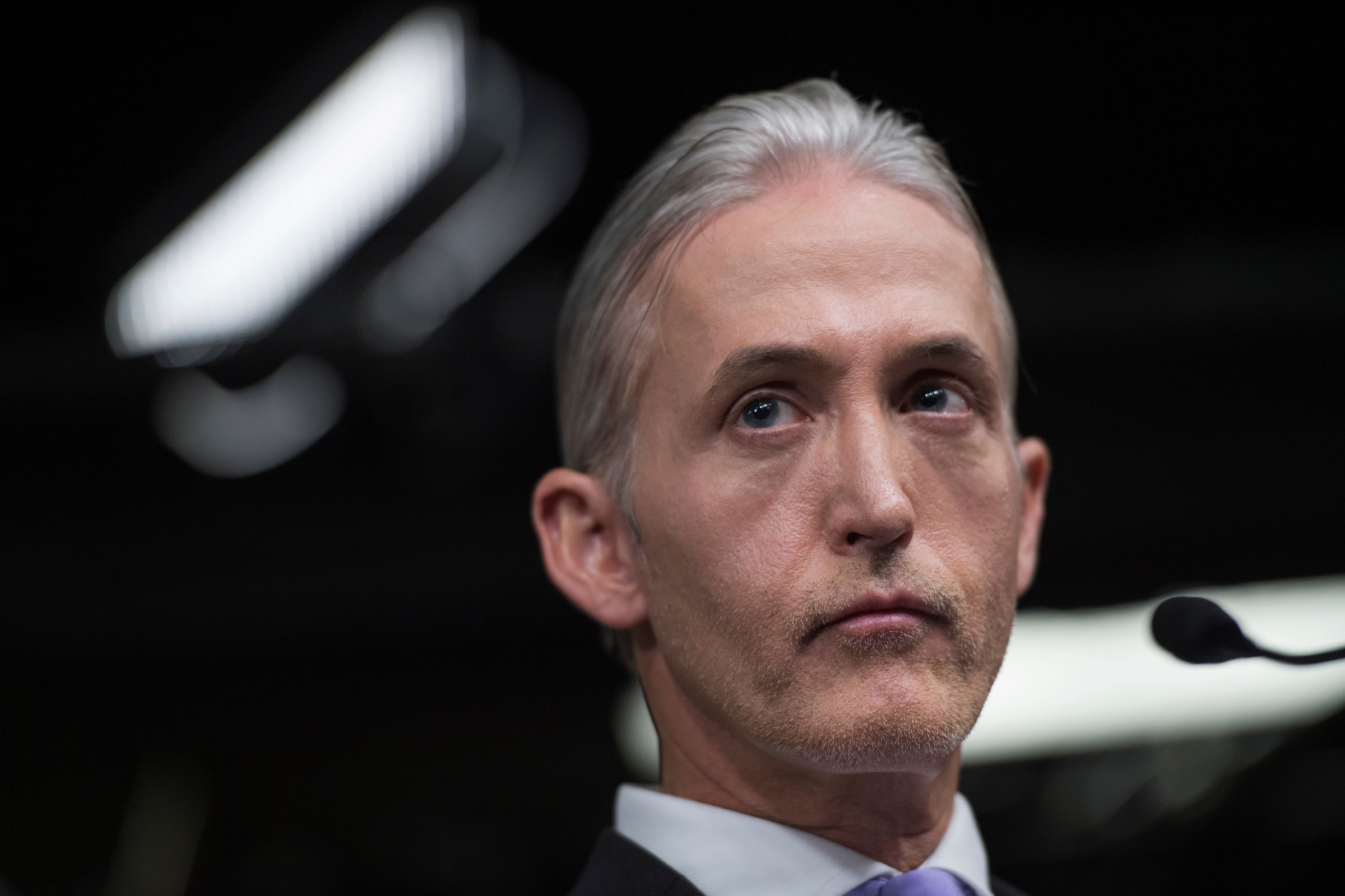 South Carolina Rep. Trey Gowdy, chairman of the Select Committee on Benghazi, conducts a news conference in June. (Tom Williams/CQ Roll Call File Photo)