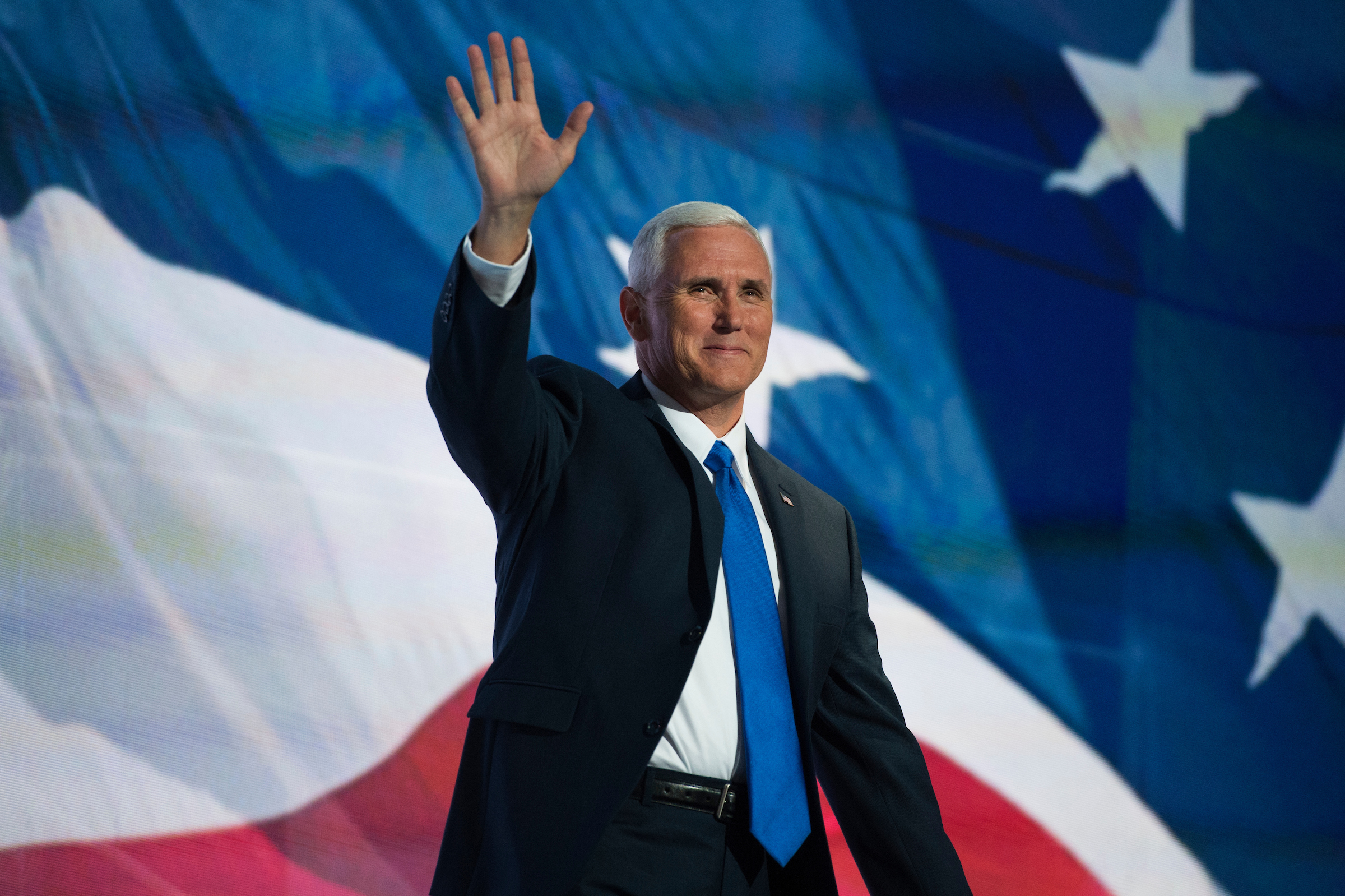 Indiana Gov. Mike Pence, running mate of Republican presidential candidate Donald Trump, addressed the GOP convention in Cleveland last week. (Tom Williams/CQ Roll Call)