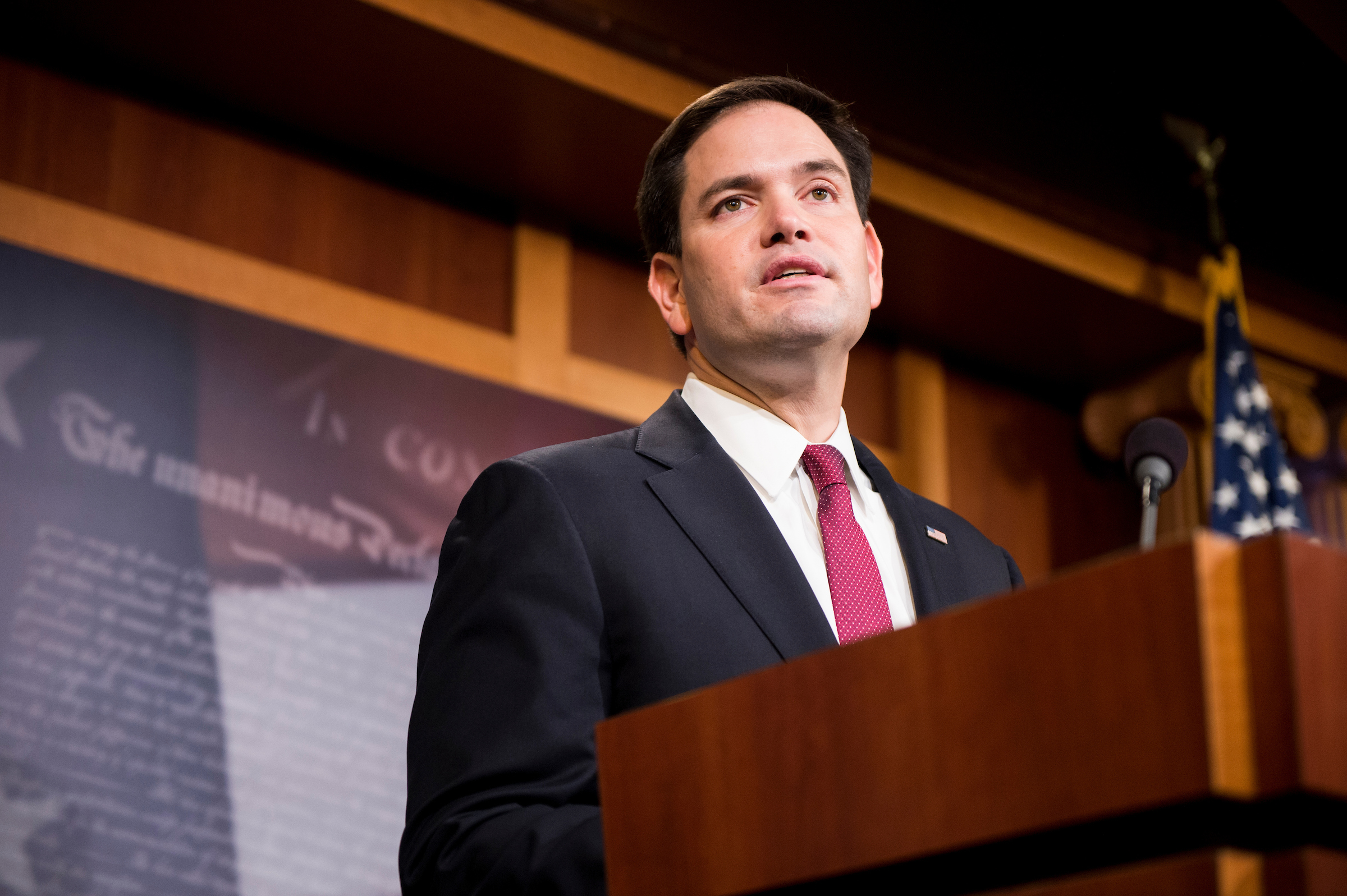 Florida Sen. Marco Rubio is touting a bill that would end automatic refugee status for Cuban migrants. (Bill Clark/CQ Roll Call file photo)
