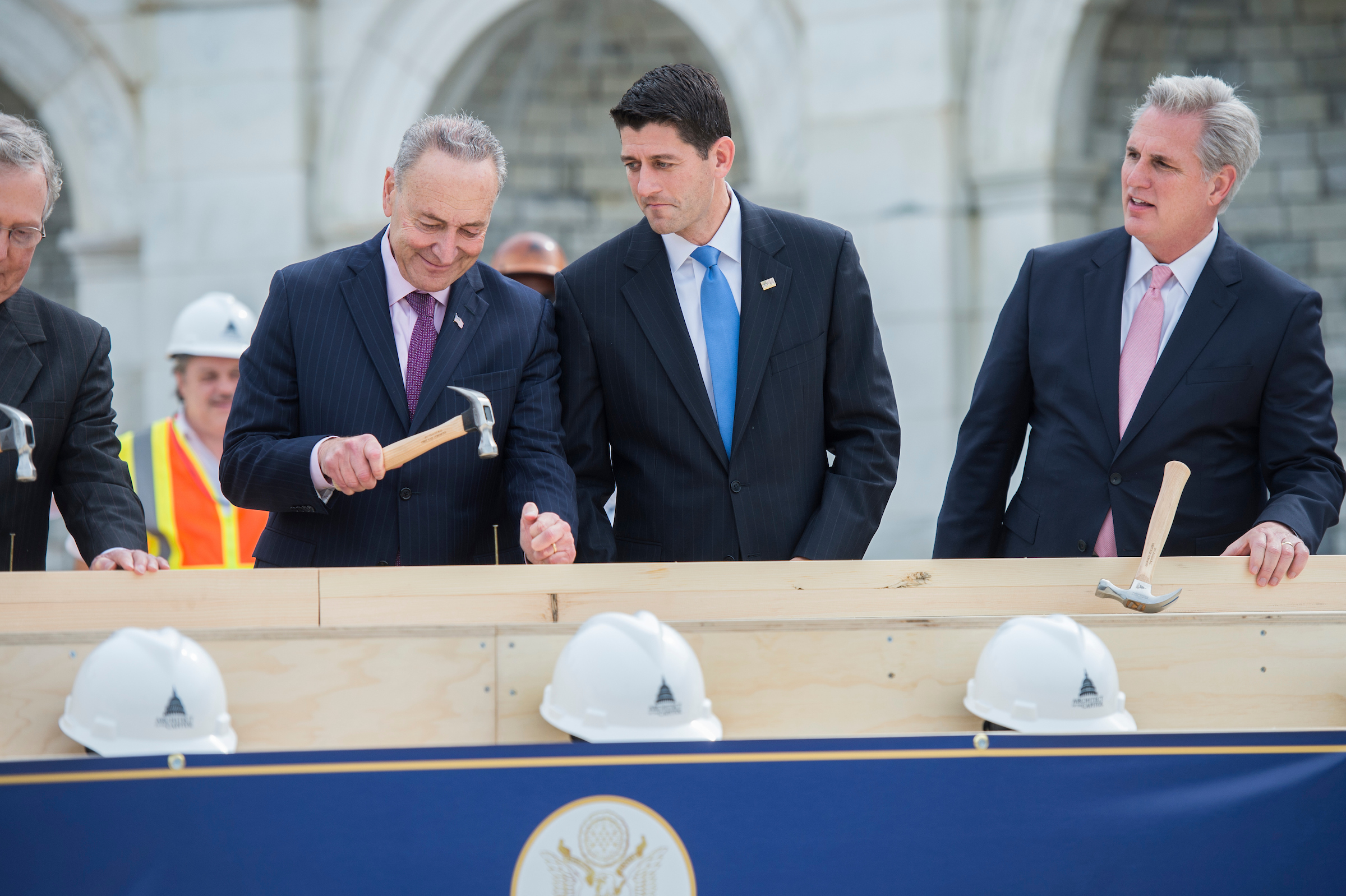 Ryan reacts to Schumer's technique. (Tom Williams/CQ Roll Call)