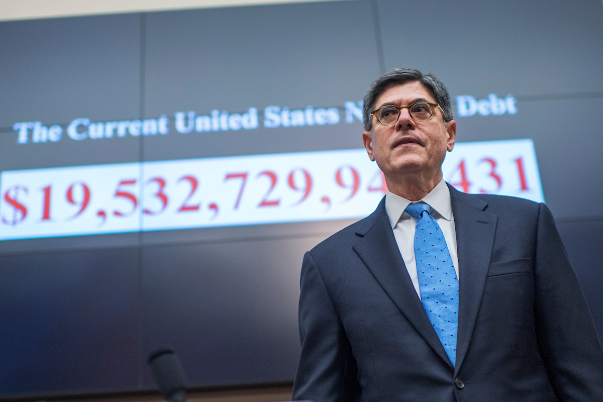 "Treasury Secretary Jacob J. Lew prepares to testify at a House Financial Services Committee hearing in the Rayburn building, titled ""The Annual Report of the Financial Stability Oversight Council on Thursday, Sept. 22. (Tom Williams/CQ Roll Call)"
