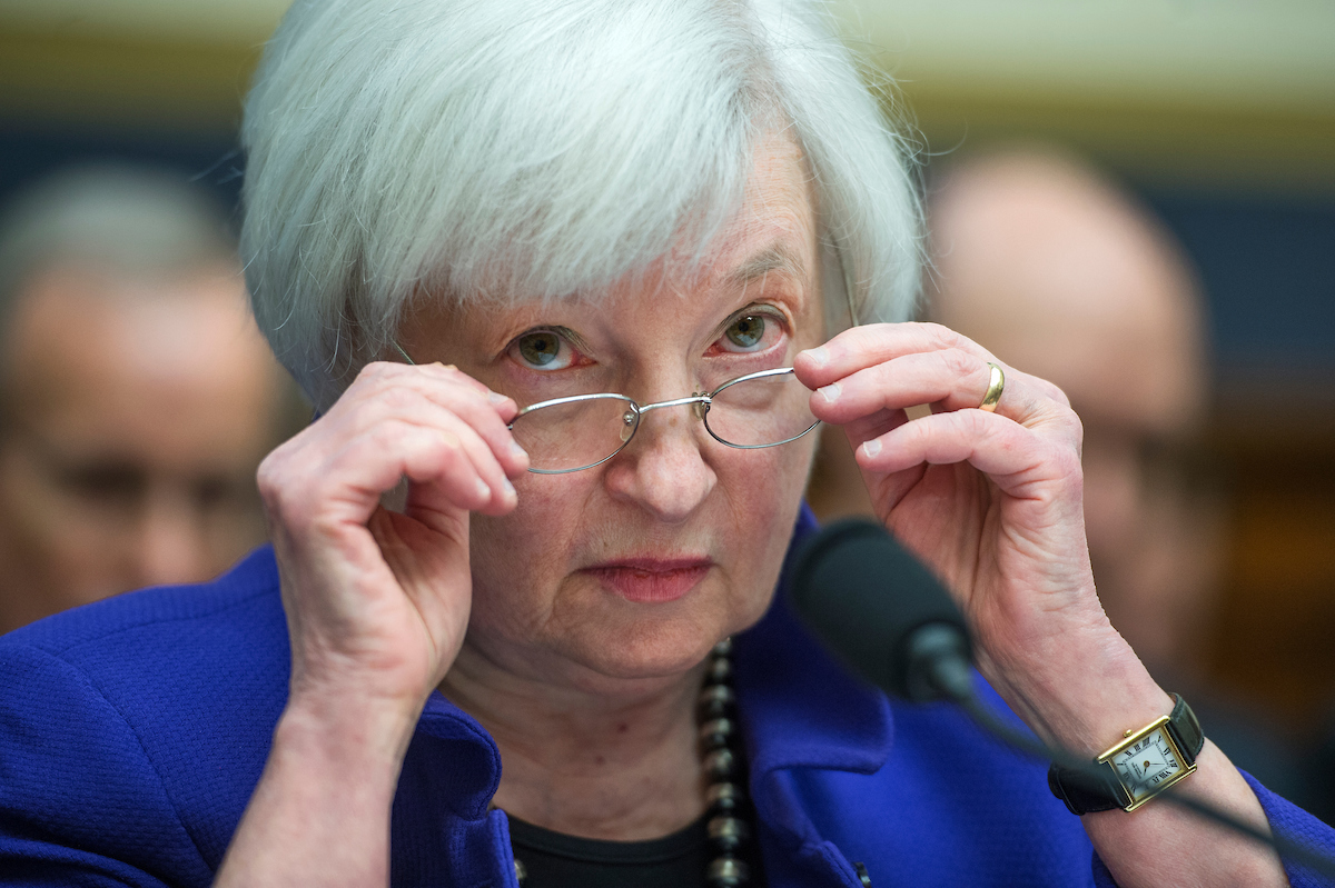 Federal Reserve Board Chair Janet Yellen testifies at a House Financial Services Committee hearing in the Rayburn Building on Wednesday, Sept. 28. (Tom Williams/CQ Roll Call)