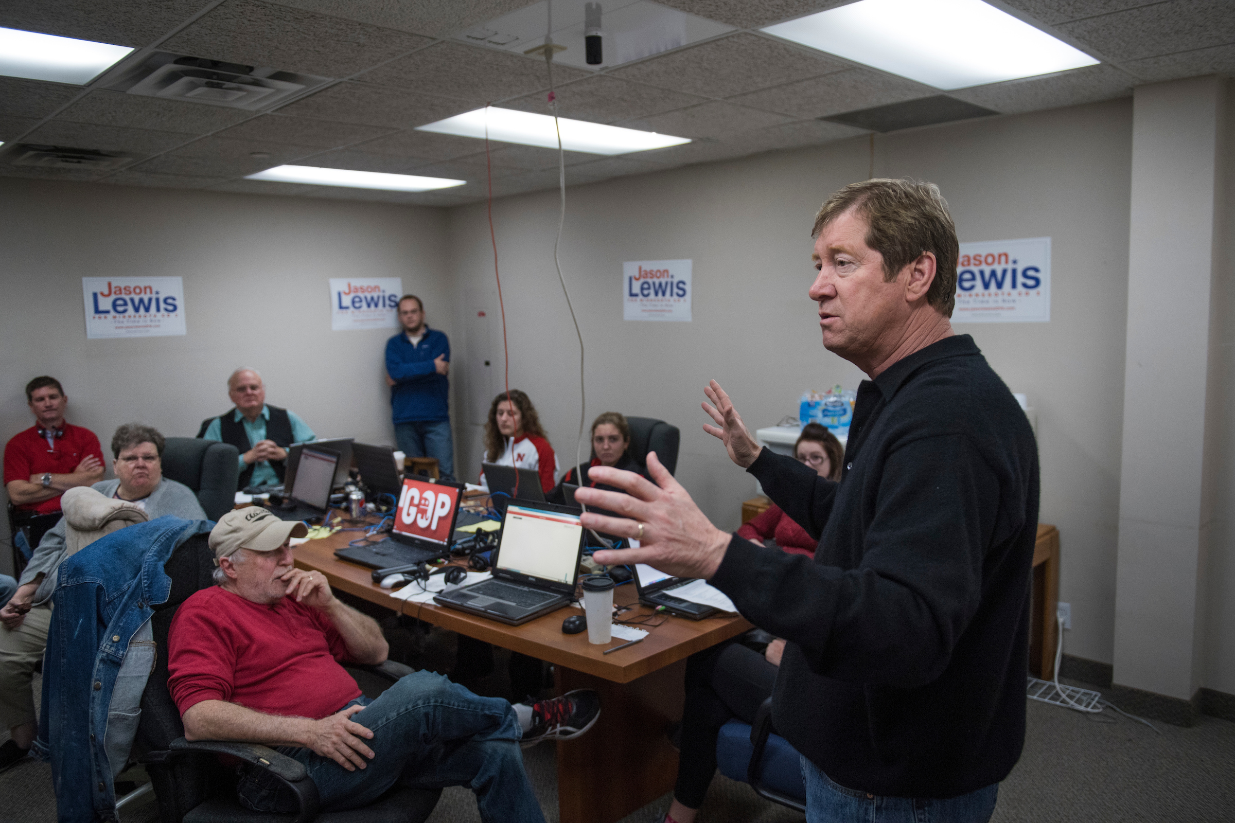 Some of Lewis' supporters say they make a distinction between Lewis the radio host and Lewis the candidate. (Tom Williams/CQ Roll Call)