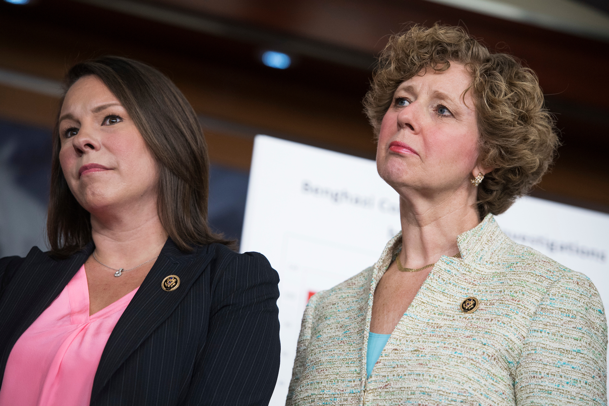 "Reps. <a class=""memberLink"" title=""Click to view member info in a new window"" href=""http://data.rollcall.com/members/31387?rel=memberLink"" target=""_blank"">Martha Roby</a> of Alabama, left, and <a class=""memberLink"" title=""Click to view member info in a new window"" href=""http://data.rollcall.com/members/44650?rel=memberLink"" target=""_blank"">Susan W. Brooks</a> of Indiana are considered potential candidates for Senate seats in their respective states. (Tom Williams/CQ Roll Call File Photo)"