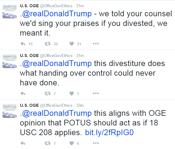 The US Office Of Government Ethics Is Really (Really) Happy With Trump