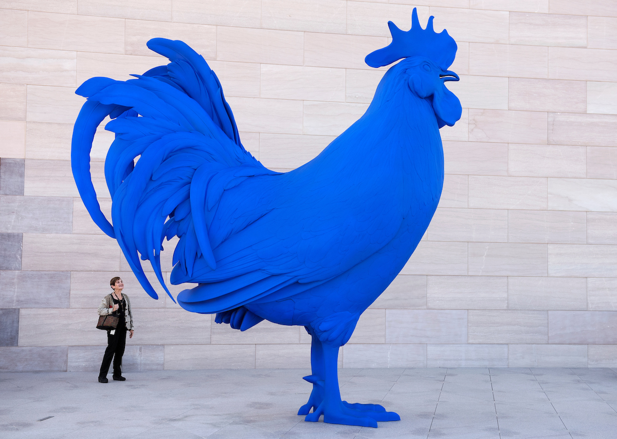 22. Sept. 27: Hahn/Cock, a sculpture by Katharina Fritsch, is on display at the the newly renovated National Gallery of Art's East Building. (Tom Williams/CQ Roll Call file photo)