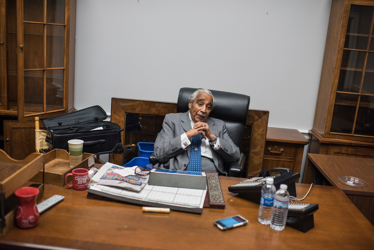 33. Dec. 2: New York Rep. Charles B. Rangel is interviewed by Roll Call in his Rayburn building office. Rangel is retiring after serving 23 terms in the House. (Tom Williams/CQ Roll Call file photo)