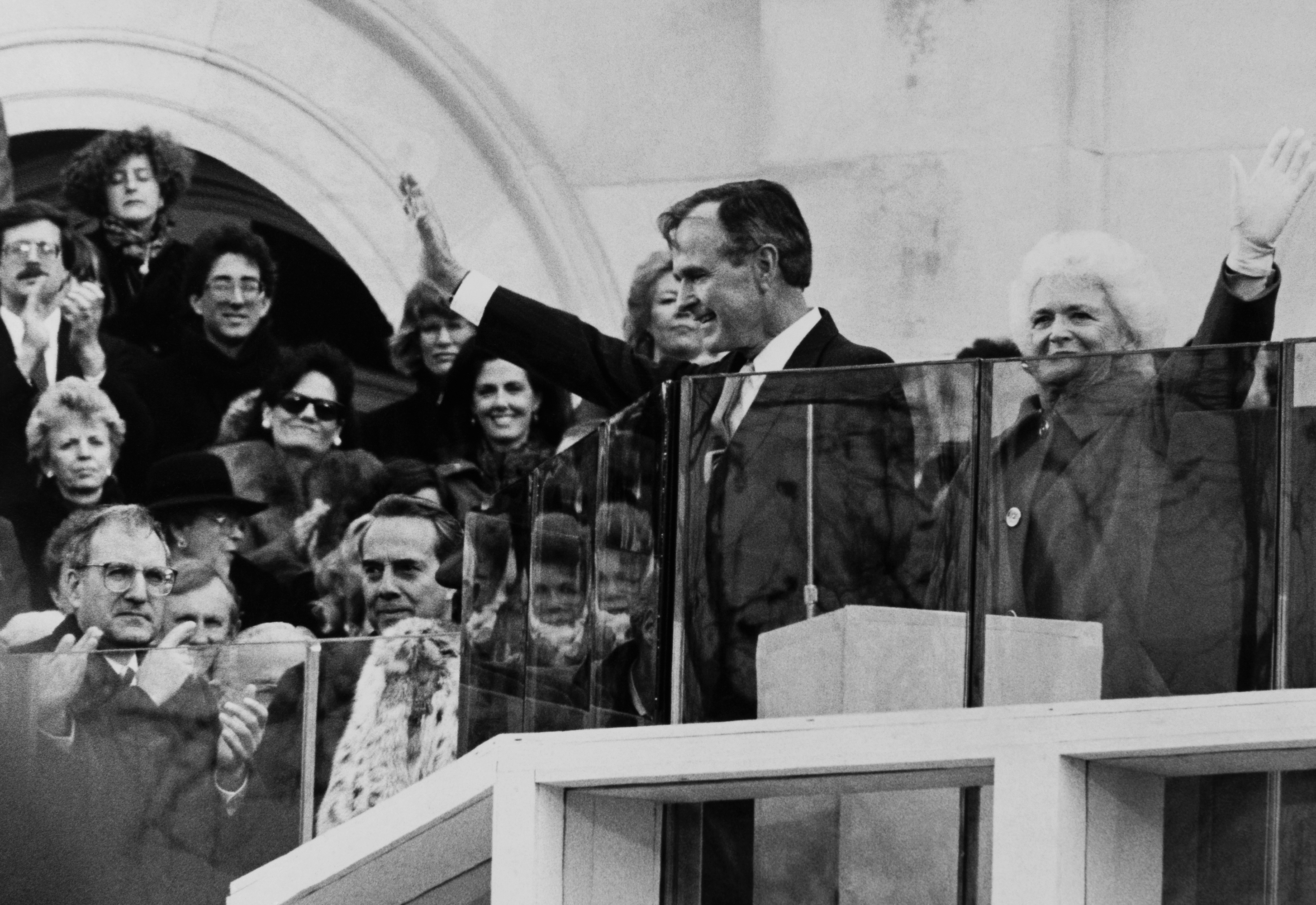 President George H.W. Bush at his inauguration in 1989. (CQ Roll Call file photo)