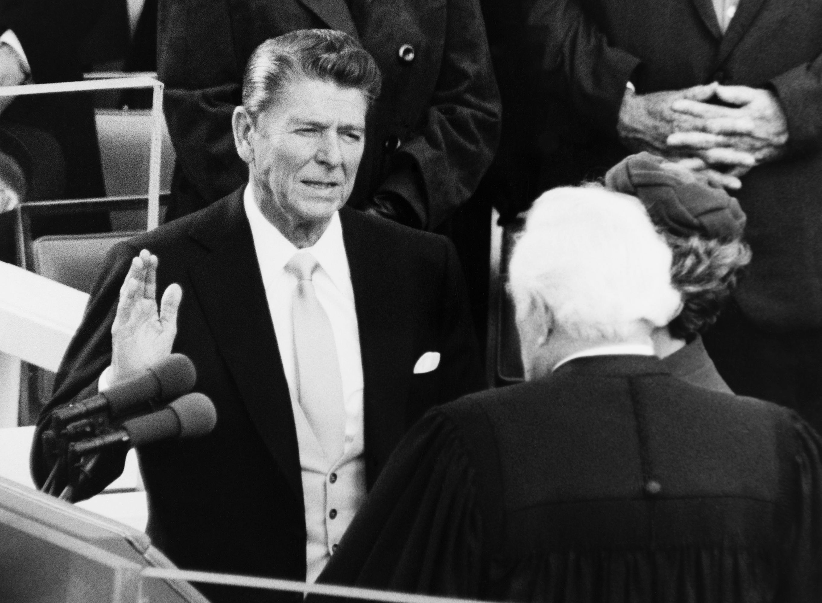 President Ronald Reagan takes the oath of office in 1981. (CQ Roll Call file photo)