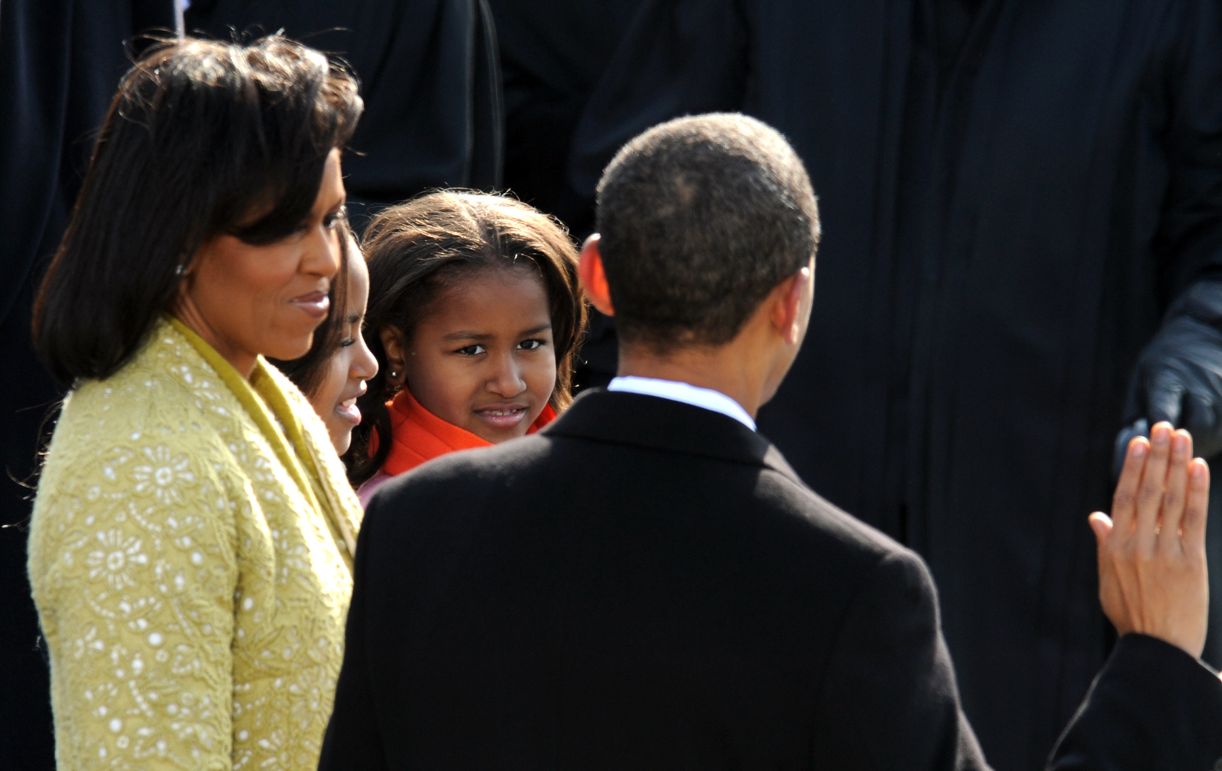 President Barack Obama is sworn in as the 44th president. (CQ Roll Call file photo)
