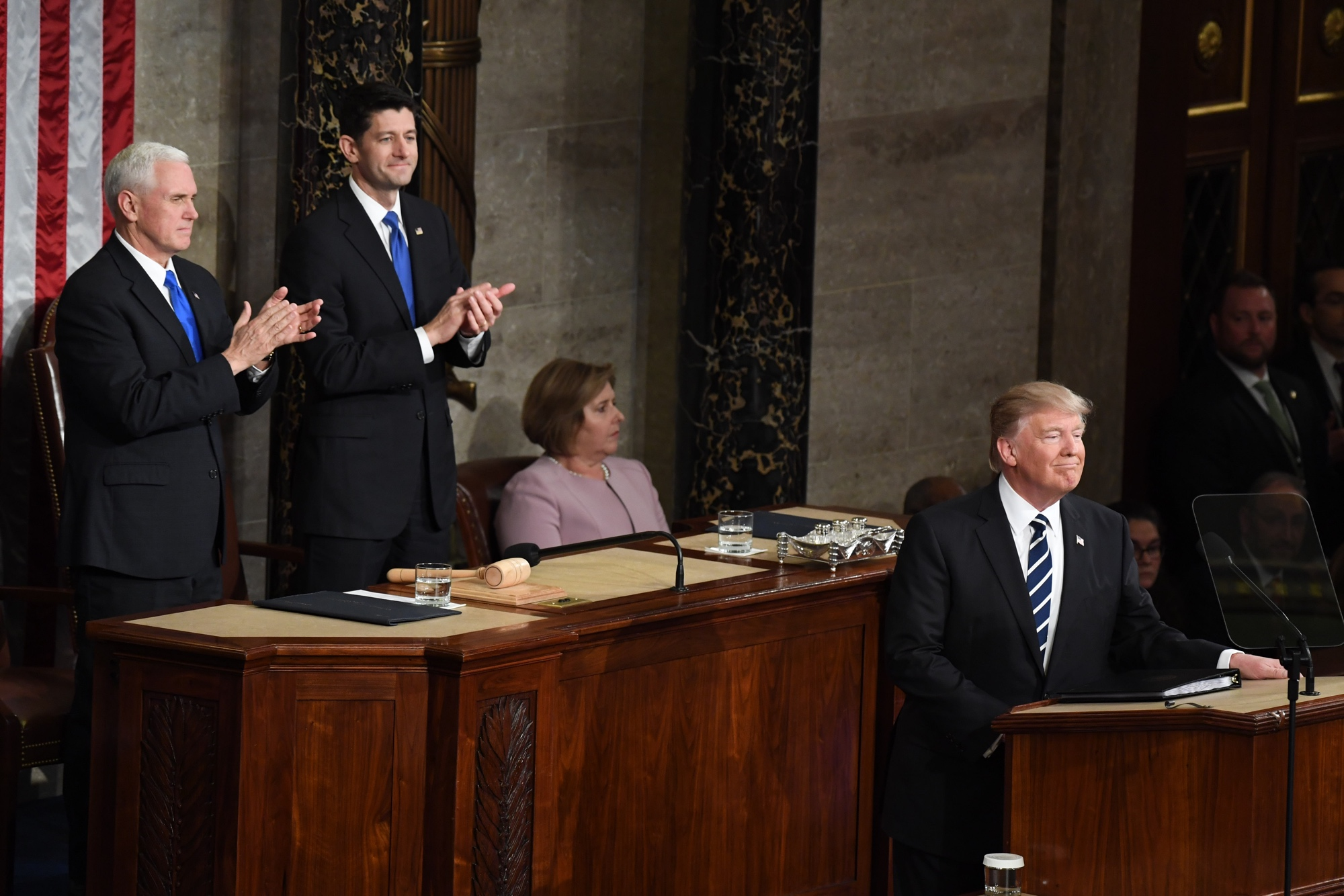 Trump begins his first address to a joint session of Congress on Tuesday. (Bill Clark/CQ Roll Call)