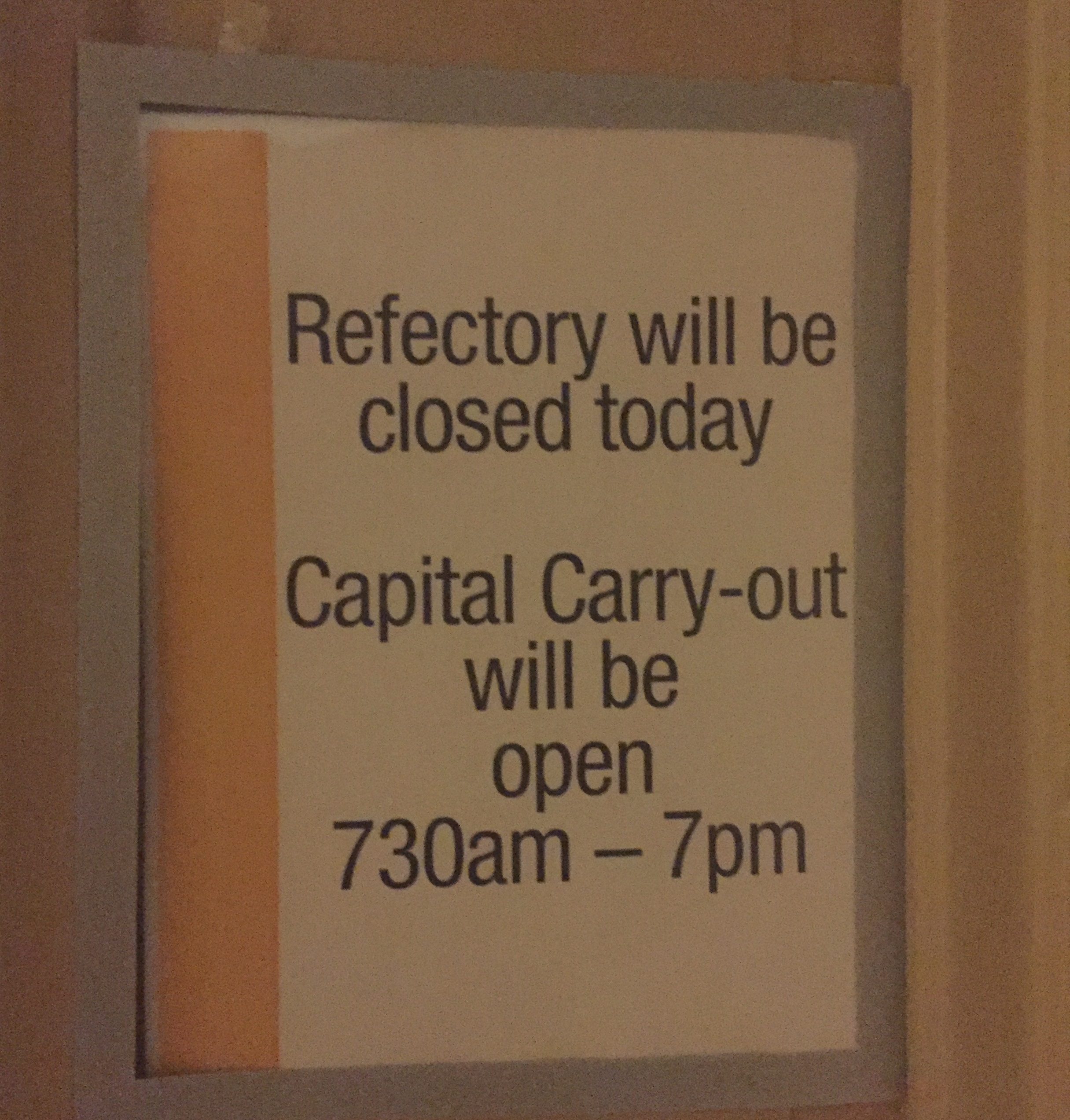 The sign on the door of the Refectory of the Senate. (Alex Gangitano/ CQ Roll Call)
