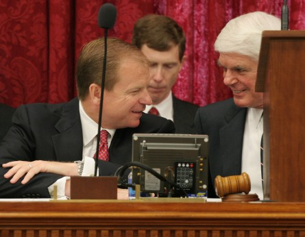 Shockey, left, was a long-time House Appropriations aide under ex-Chairman Jerry Lewis, R-Calif. (CQ Roll Call File Photo.)