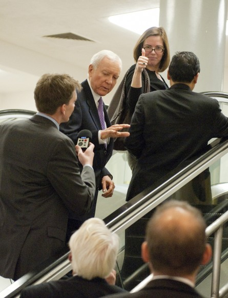 Ferrier, seen here with Hatch. (Tom Williams/CQ Roll Call File Photo)