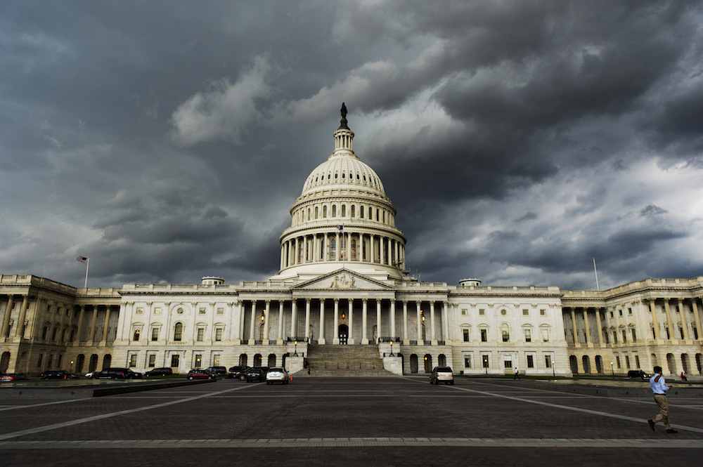 Storm Clouds Capitol Photo