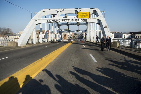 John Lewis Bob Scheiffer Edmond Pettus Bridge