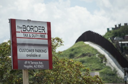 The fence on the border at Nogales. (Bill Clark/CQ Roll Call Photo)