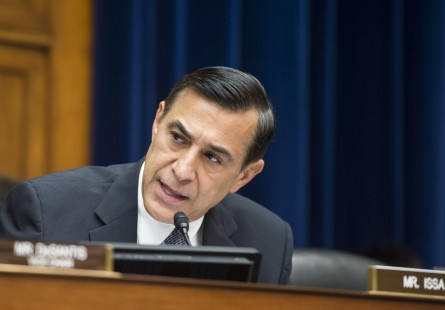JULY 23: House Oversight and Government Reform chairman Darrell Issa, R-Calif., speaks during the House Oversight and Government Reform Committee's Economic Growth, Job Creation, and Regulatory Affairs Subcommittee hearing with IRS Commissioner John Koskinen on the IRS scandal on Wednesday, July 23, 2014. (Photo By Bill Clark/CQ Roll Call)