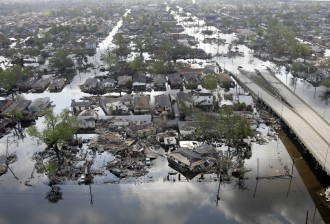 Areas of the Ninth Ward in New Orleans are still flooded nearly a month after the storm. (Robyn Beck/AFP/Getty Images File Photo)