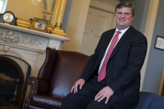 UNITED STATES - August 11: Geoffrey Green, Senior Legislative Assistant for House Majority Whip Steve Scalise, R-La., poses for a portrait on Capitol Hill in Washington on Friday, August 11, 2015. (Photo By Al Drago/CQ Roll Call)