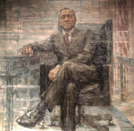 "The presidential portrait of ""House of Cards"" protagonist Francis J. Underwood is expected to be on display in the National Portrait Gallery from February through October 2016. (Warren Rojas/CQ Roll Call)"