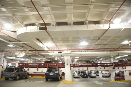 The garage of Cannon Building was overhauled about 6 years ago, May 5, 2009.