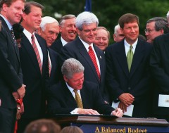 Clinton worked with Republicans to pass a budget via reconciliation. (CQ Roll Call File Photo)