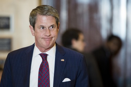 UNITED STATES - FEBRUARY 4: Sen. David Vitter, R-La., leaves the bipartisan Senate luncheon in the Kennedy Caucus Room in the Russell Senate Office Building on Wednesday, Feb. 4, 2015. (Photo By Bill Clark/CQ Roll Call)