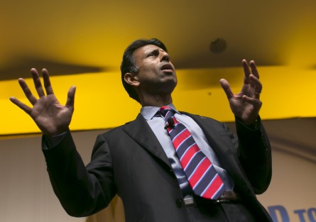 UNITED STATES - JUNE 19- Republican presidential candidate, Louisiana Gov. Bobby Jindal speaks during the Faith & Freedom Coalition's Road to Majority conference which featured speeches by conservative politicians at the Washington D.C. Omni Shoreham Hotel, June 19, 2015. (Photo By Al Drago/CQ Roll Call)