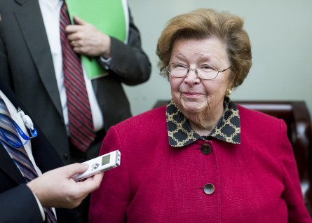 Mikulski had lunch with Obama Thursday ahead of his address to the Democratic retreat. (Bill Clark/CQ Roll Call)