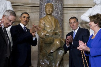 Rosa Parks statue  joined Statuary Hall collection in February 2013. (Tom Williams/CQ Roll Call File Photo)