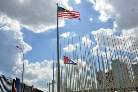 The American flag is now flying over the U.S. embassy in Havana for the first time since 1961. (Courtesy Sen. Leahy)