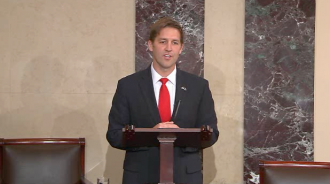 Sasse speaks from the Senate floor Tuesday. (CQ Floor Video)