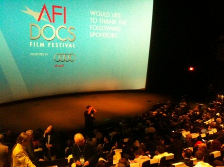 The opening night festivities for AFI Docs presented by Audi were held at the Newseum, in between the White House and the Capitol. (Jason Dick/CQ Roll Call._