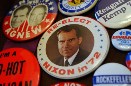 "Nixon gets star billing in the documentary ""Our Nixon."" (CQ Roll Call File Photo.)"