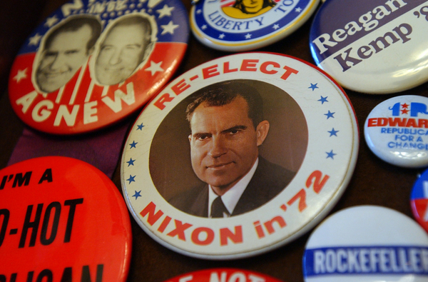 "Nixon gets star billing in the documentary ""Our Nixon."" (CQ Roll Call"