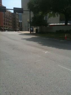 """The """"X"""" marks the spot where Kennedy was shot on Nov. 23, 1963. (Jason Dick/CQ Roll Call)"""