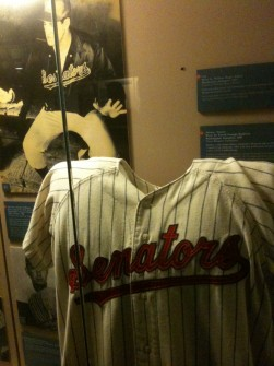 The Texas Rangers Hall of Fame has an exhibit on the team's previous iteration as the Washington Senators. (Jason Dick/CQ Roll Call)