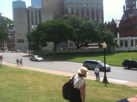 The view of Dealey Plaza that Abraham Zapruder had on Nov. 23, 1963. (Jason Dick/CQ Roll Call)
